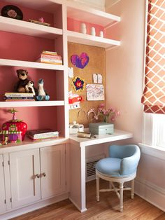 Girls Built In Desk Design, Pictures, Remodel, Decor and Ideas