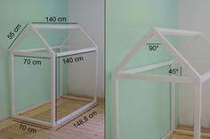Build your own house bed Building instructions for a children's floor bed - Kinderzimmer - Babyzimmer Big Girl Rooms, Boy Room, Baby Bedroom, Kids Bedroom, Toddler Rooms, Toddler Bed, Montessori Bed, Build Your Own House, House Beds