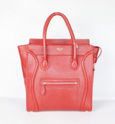 discount Celine Luggage Bags - discount Celine Luggage Mini Leather Bag Red