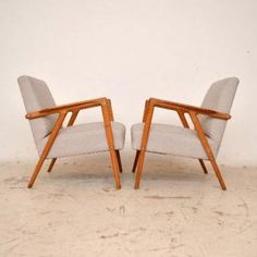 Superieur Pair Of Danish Elm Upholstered Retro Armchairs Vintage 1950u0027s Retro Armchair,  Retro Chairs, House