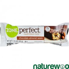 Zone - 456376 - Nutrition Bar - Chocolate Almond Raisin - Case of 12 - 1.76 oz
