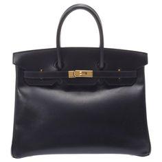 Sacs à main Hermès HERMES BIRKIN Cuir Noir ref.192013 - Joli Closet