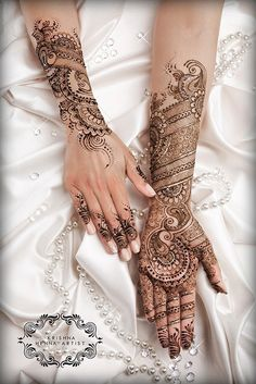 Henna/ Mendhi -Traditional look. www.facebook.com/KrishnaHennaArtist