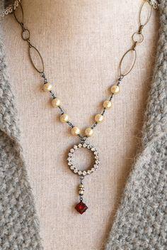 Genevieve. vintage baroque pearlgemstone by tiedupmemories on Etsy