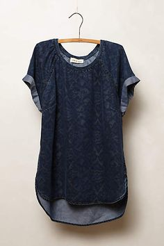 Ikat Chambray Tee - anthropologie.com