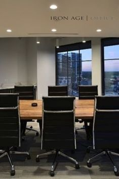 Another powerful workspace, transformed by Iron Age Office. Reach out today and see what we can do for you! Custom Wood Furniture, Furniture For You, Furniture Making, Office Furniture, Modern Craftsman, Modern Office Design, Iron Age, Made In America, Interiors