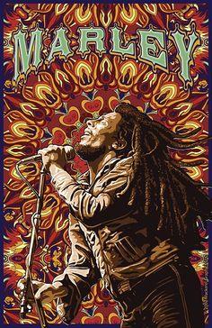*Bob Marley* More fantastic paintings, pictures and videos of *Bob Marley* on: https://de.pinterest.com/ReggaeHeart/ ©Chris Pinkerton