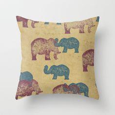 ELEPHANT Throw Pillow by Sinonelineman - $20.00