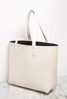 Faux Leather Tote and Pouch | Forever 21 - 1002247474