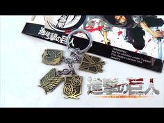 Attack on Titan Shingeki no Kyojin Bronze Keychain https://youtu.be/K4wnYDz0fa8