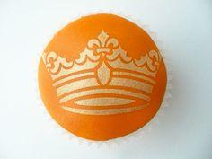 Kroon cupcakes met koningsdag  - Carola bakt Zoethoudertjes