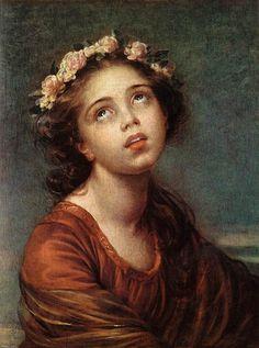 Elisabeth Louise Vigee-Le Brun (Elisabeth Louise Vigee Le Brun) (1755-1842) The Daughters Portrait Oil on canvas