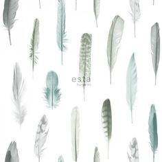 Transform rooms into a bohemian retreat with this whimsical wallpaper. Turquoise, navy and slate feathers effortlessly complement a white backdrop. Nala is an unpasted, non woven wallpaper.