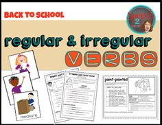 Speechie Freebies: Back to School Verbs Pinned by SOS Inc. Resources. Follow all our boards at pinterest.com/sostherapy/ for therapy ideas.