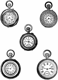 Taschenuhr clipart kostenlos  Square Clock Face Template Clock templates patterns, Square Clock ...