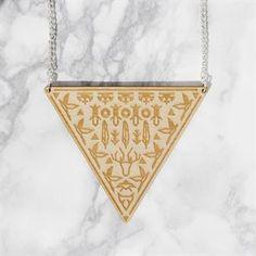 YO ZEN Shaman Halsband Björk Triangel