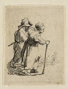 Mijn favoriete Rembrandt in Teylers Museum: Oude man en vrouw, lopend (B144)