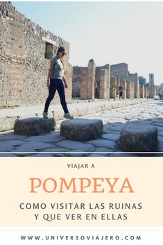 Want to visit Pompeii by yourself? Pompeii is a city today in ruins after being buried under the ashes of the Vesuvius volcano for hundreds of years. Here you will find how to get to travel to Pompeii by yourself, what to see in Pompeii, what to do in P Italy Travel Tips, Rome Travel, Travel Blog, Travel Destinations, Cruise Travel, Cruise Vacation, Princess Cruises Caribbean, Pompei Italy, Pompeii Ruins