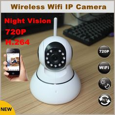 (33.29$)  Watch now  - Newest Arrival HD 720P Wireless IP Camera Wifi Night Vision H.264 Night Vision IR CUT IP Network Camera CCTV System
