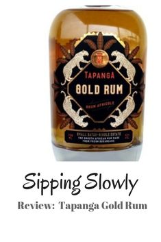 Review of the Tapanga Gold Rum made in KZN Cocktails, Drinks, Whisky, Whiskey Bottle, Rum, Bubbles, Gold, How To Make, Craft Cocktails