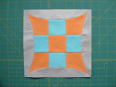 "This tutorial show's how to make a curved nine patch using the Quick Curve Ruler:           Nine Patch Block   (1) 2 1/2"" x 2 1/2"" square (..."