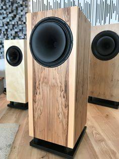 Tobian Speakers Open Baffle Speakers, Wooden Speakers, Horn Speakers, Diy Speakers, Built In Speakers, Stereo Speakers, Audio Design, Speaker Design, Sound Design
