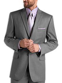 Wilke Rodriguez Gray Multistripe Modern Fit Suit