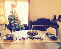 Una mesa romántica en Navidad
