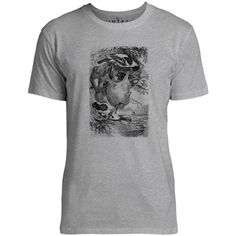 Mintage Weaver Birds Mens Fine Jersey T-Shirt (Grey Marle)