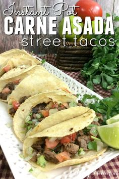 Do you love carne asada? I'll show you how to quickly and easily make Instant Pot carne asada. It has a great flavor that's perfect for street tacos!