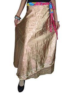 Womans Sari Wrap Skirt Two Layer Printed Long Vintage Silk Sarong Skirts Mogul Interior http://www.amazon.com/dp/B00SWTVS8Y/ref=cm_sw_r_pi_dp_aNJKvb0C5ABHF