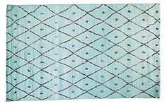 """4'1""""x8'2"""" Corsica Rug, Light Blue 