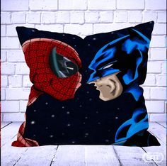 Best Spiderman versus batman Pillow Cases