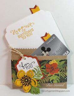 Bloomin' Botanicals Kraft Bag Gift Card by TexasGrammy - Cards and Paper Crafts at Splitcoaststampers