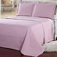 Bedspread Quilt Coverlet Set 2 Piece with Shams Solid Modern Bedding, Twin Twin XL, Pink Modern Duvet Covers, Modern Bedding, Cal King Size, Queen Size, Twin Twin, Full Bed, King Beds, Quilt Sets, Bedspread