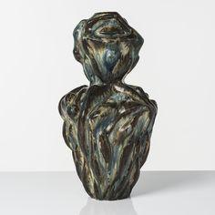 ƒ, Axel Johannes Salto (1889-1961), Fetish, Vase, Grès émaillé, Signé et[...]…