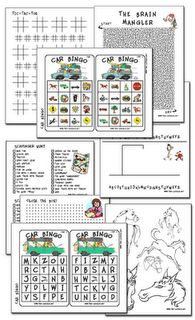 has great links to printables for long car trips with the kids