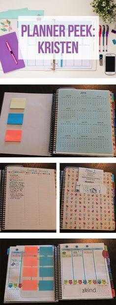 A Look at Kristen's DIY Planner