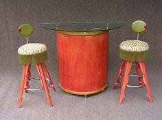 Retro-ish bar + stools