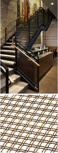 Starbucks stores and facilities are widely known and highly regarded for their sustainable and sophisticated designs. The newest Starbucks flagship store at Oak and Rush in Chicago, IL, which features wire mesh from Banker Wire, is no exception.