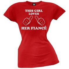 This Girl Loves Her Fiance Juniors T-Shirt