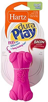 Pet Supplies Hartz Dura Play Bacon Scented Bone Dog Toy Small