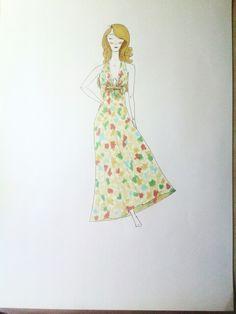 Diseño (copic markers + pintura dorada)