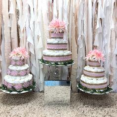 Diaper cakes Beautiful Baby Shower, Beautiful Babies, Baby Shower Sweets, Diaper Cakes, Decor, Decoration, Diaper Bouquet, Decorating, Deco