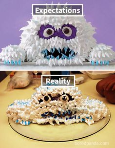 Expectations Vs Reality: 100 failed attempt to make a cake – Funnyfoto Epic Cake Fails, Baking Fails, Bad Cakes, Frog Cakes, Walmart Funny, Expectation Reality, Funny Quotes, Funny Memes, Funny Cake