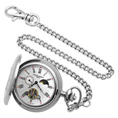 $179.00 (CLICK IMAGE TWICE FOR UPDATED PRICING AND INFO) Charles-Hubert, Paris Stainless Steel Mechanical Pocket Watch  - See More  Valentines Gift for Men at http://www.zbuys.com/level.php?node=6089=valentines-gift-ideas-for-men