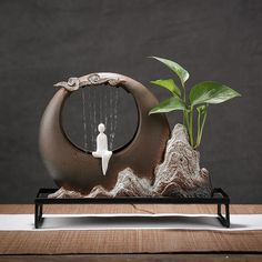 Feng Shui Office, Asian Interior Design, Bird Bath Fountain, Buddha Garden, Lumiere Led, Ceramics Projects, Small Plants, Hanging Plants, Home Decor Styles