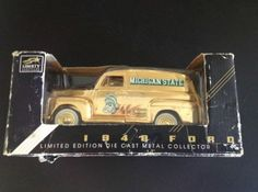 MICHIGAN STATE Die Cast 1948 FORD Panel Truck Gold color IN BOX! Liberty Classi