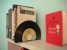 Old record bookends
