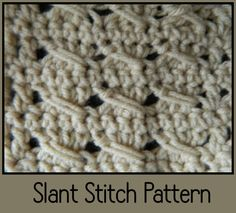 New Crochet Slant Stitch Pattern Video. ༺✿ƬⱤღ  http://www.pinterest.com/teretegui/✿༻